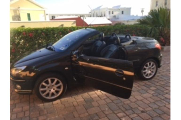 2005 Black Peugeot 206 Convertible